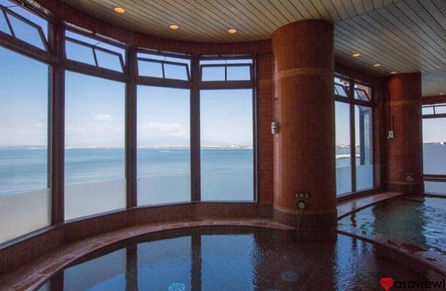 江の島アイランドスパ 炭酸泉からの眺め