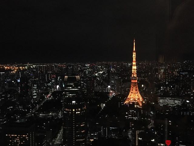 夜景の中の東京タワー