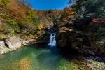 三段峡の紅葉写真