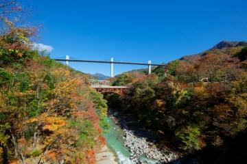 吾妻渓谷の紅葉写真