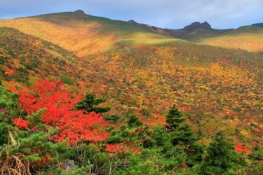 安達太良山の紅葉写真