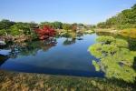岡山後楽園の紅葉写真