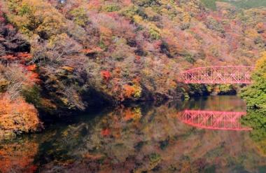 帝釈峡の紅葉写真