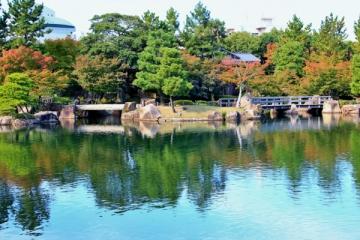 徳川園の紅葉写真