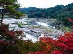 曽木の滝の紅葉写真