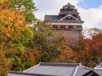 熊本城の紅葉写真