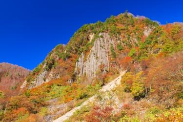 秋山郷の紅葉写真