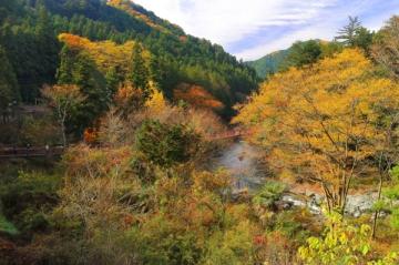 秋川渓谷の紅葉写真