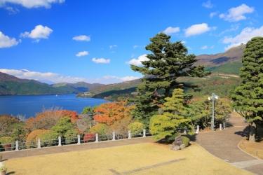 芦ノ湖の紅葉写真