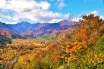 銀山温泉の紅葉写真