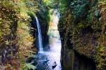 高千穂峡の紅葉写真