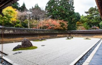 龍安寺の紅葉写真