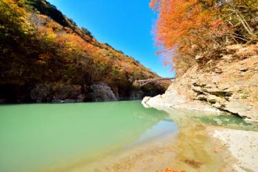 龍王峡の紅葉写真