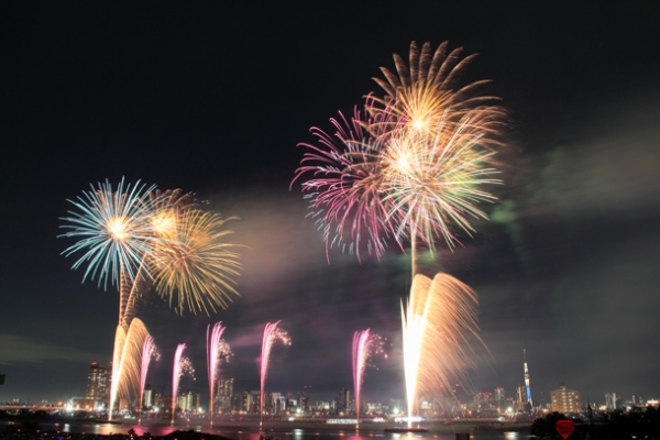 足立の花火の写真