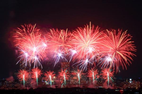 江戸川区花火大会の写真