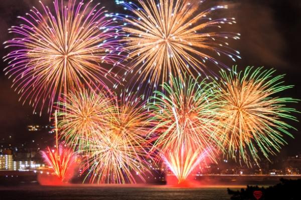 湯河原温泉海上花火大会の写真