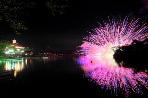 りんどう湖花火大会の写真
