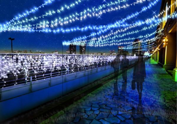 アクアシティお台場のイルミネーションの写真