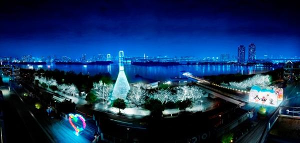 デックス東京ビーチのイルミネーションの写真