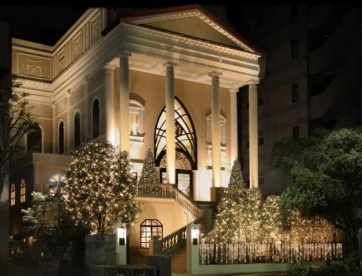 赤坂ル・アンジェ教会のイルミネーションの写真
