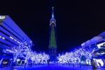 福岡タワーのイルミネーションの写真