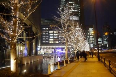 グランフロント大阪のイルミネーションの写真