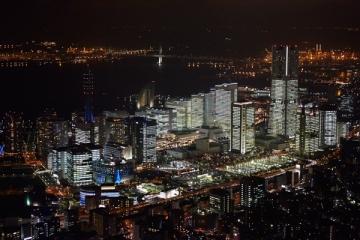 みなとみらい21地区のイルミネーションの写真