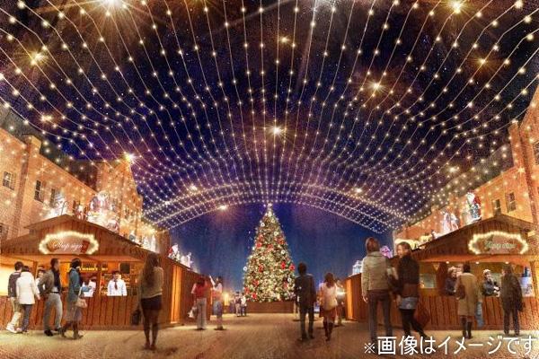 横浜赤レンガ倉庫のイルミネーションの写真