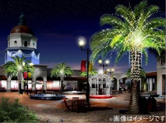 神戸三田プレミアム・アウトレットのイルミネーションの写真