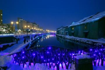 小樽運河のイルミネーションの写真