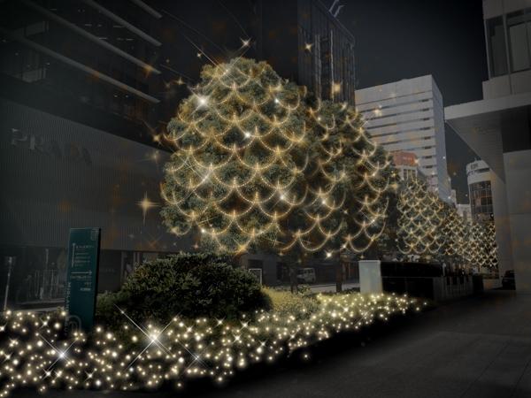 ミッドランドスクエアのイルミネーションの写真